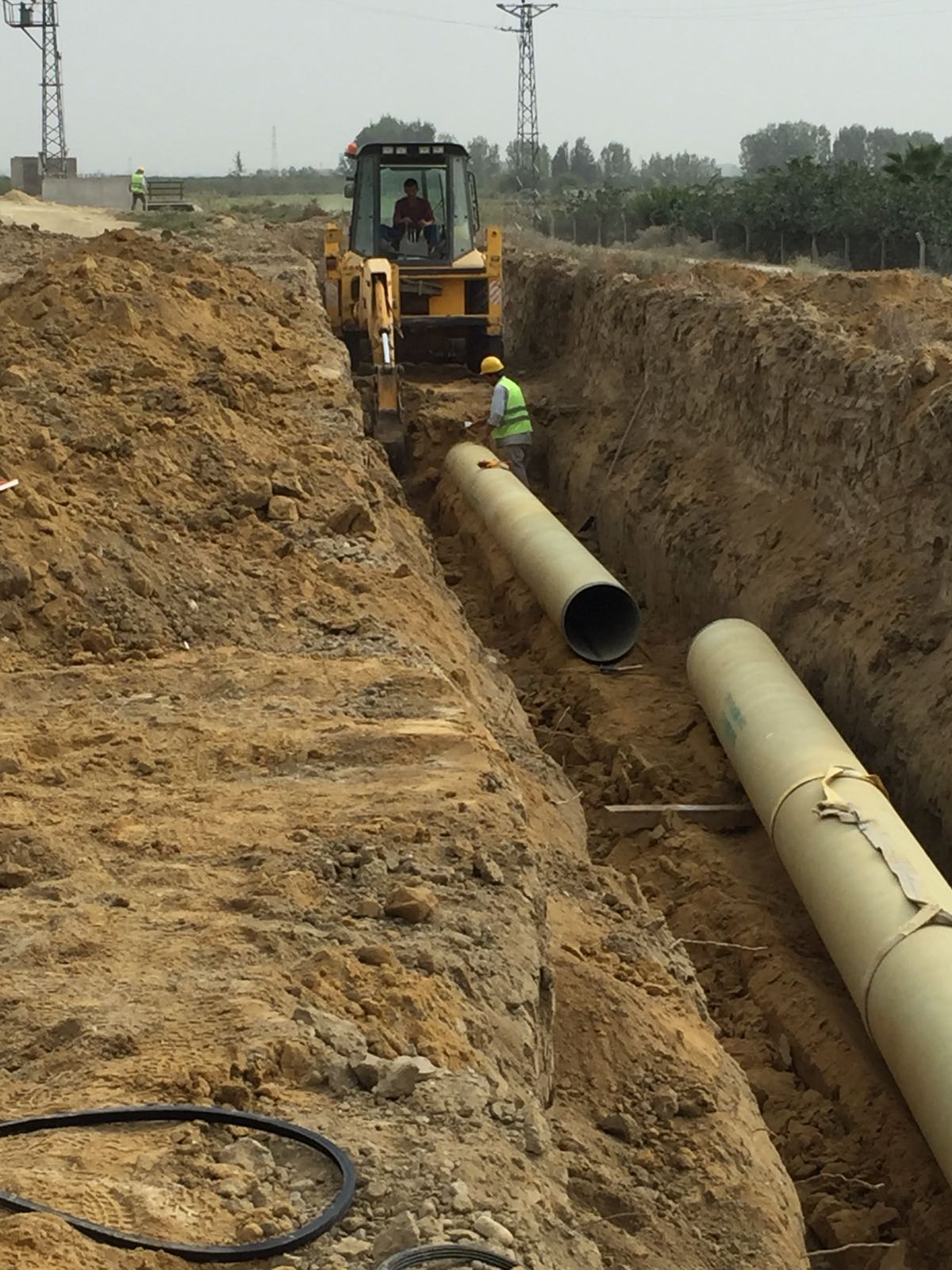 Salt Water Transmission Line Construction Work - BARANKAYA